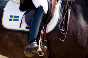 130712 Jeanna Hšgberg pŒ sin hŠst Liza Minelli i dressyren under dag sju av Falsterbo Horse Show den 12 juli 2013 i Falsterbo. Foto: Petter Arvidson / BILDBYRN / COP 110