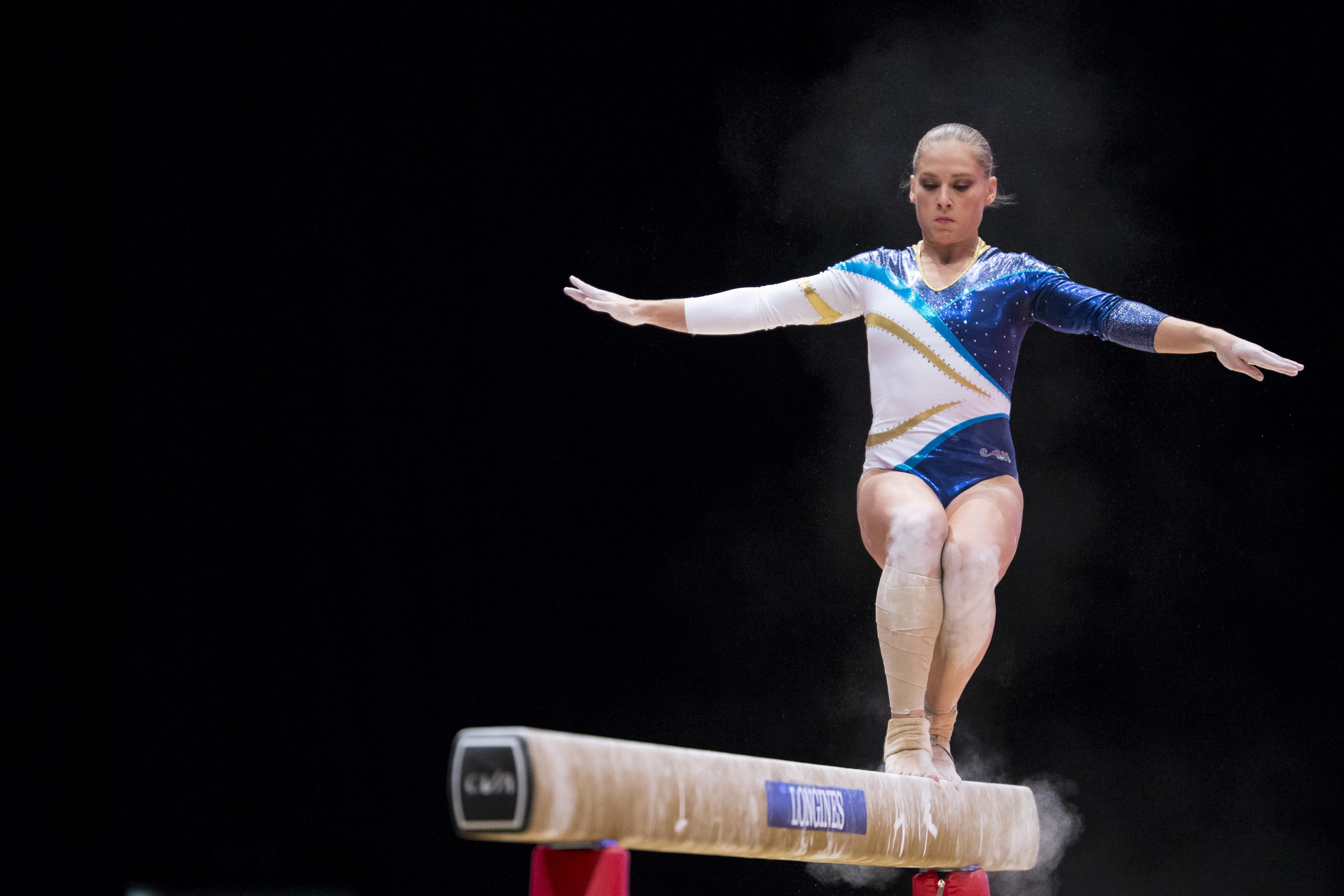 151023 Veronica WAGNER, Sverige under lagtŠvlingen i Gymnastik den 23 oktober 2015 i Glasgow. Foto: Christian Thomassen / BILDBYRN / COP 196